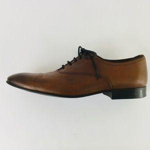 Zara Man Brown Dress Oxford Leather Shoes 8